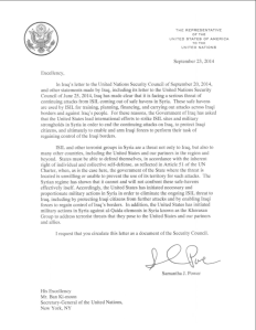 Samantha Power Letter