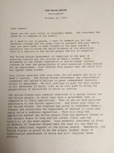 White House Letter 1