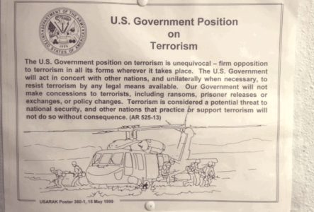 U.S. Government Position on Terrorism